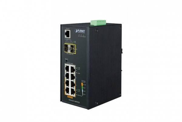 IGS-4215-4P4T2S Industrial PoE Switch