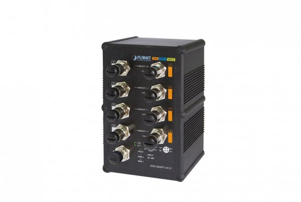 ISW-804PT-M12 Industrial PoE Switch
