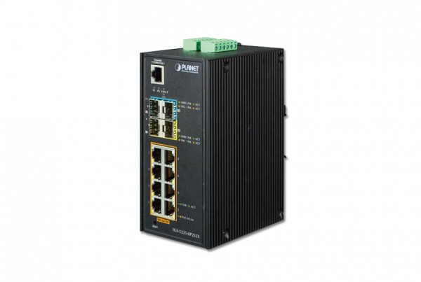 IGS-5225-8P2S2X Industrial PoE Switch